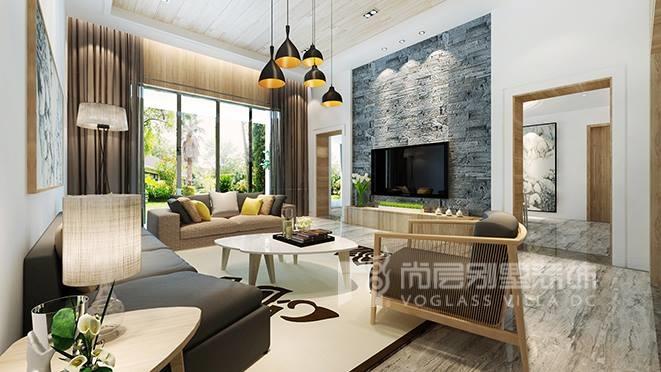 650㎡现代混搭风格别墅装修设计案例——深业紫麟山别墅