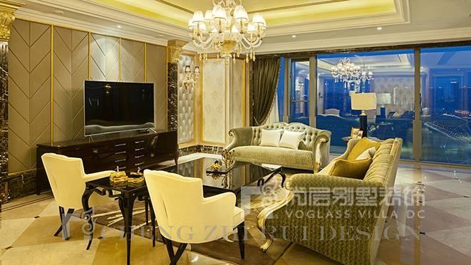 300㎡现代法式风格别墅装修案例——融创玖玺台