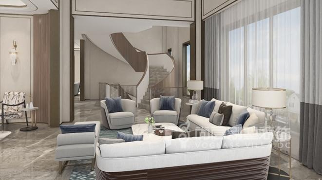 1000㎡现代轻奢风格别墅装修设计案例——仙湖
