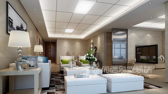 180平方米现代风格别墅装修设计案例——鸿威海怡湾