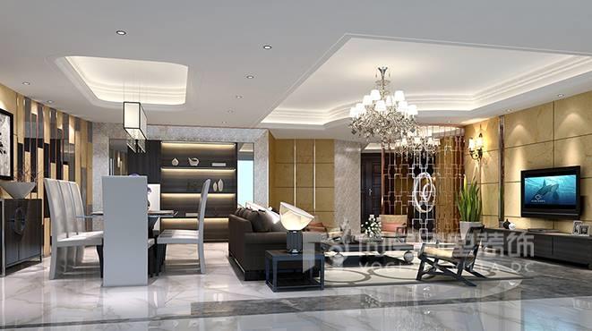 300㎡现代风格别墅装修设计案例——十里银滩