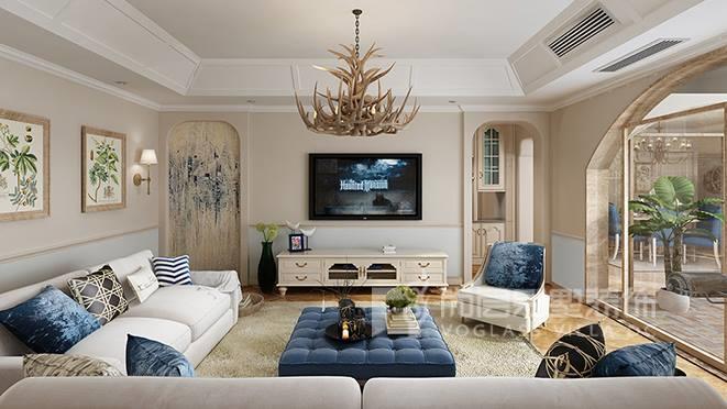380㎡美式风格别墅装修设计案例——麓山国际圣芭芭拉