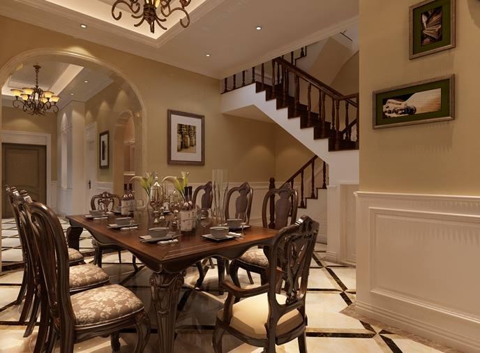 500平新中式别墅装修效果图 质朴中透着奢华与温馨