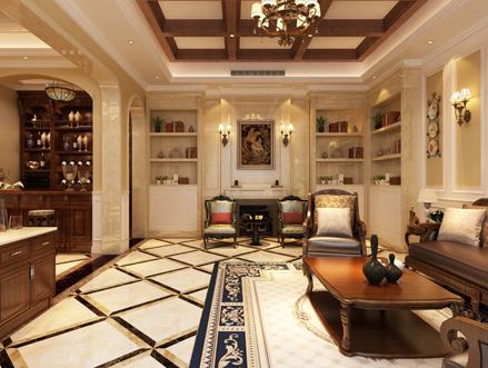 500平新中式别墅装修效果图 质朴中透着奢华与温馨图片