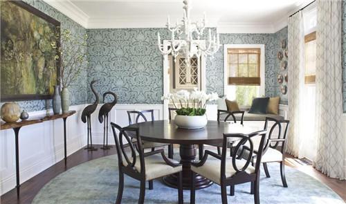 两层别墅装修效果图 朴实的田园复古风增添不少情趣       吧台设计
