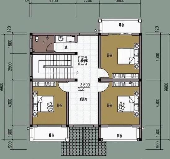 20万二层农村别墅设计图
