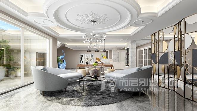 800平米现代欧式风格别墅装修设计案例