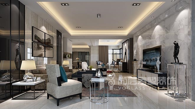 200平米现代风格别墅装修设计案例——博林天瑞