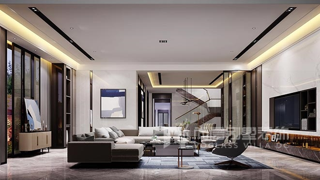 180㎡现代港式风格别墅装修设计案例