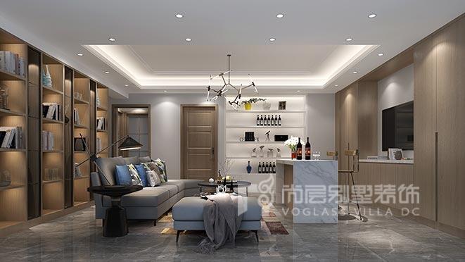 600㎡新中式风格别墅装修设计——鸿德园