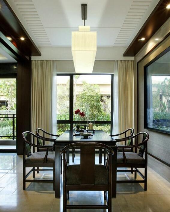 新中式叠拼别墅装修效果图 赋予优雅东方气质