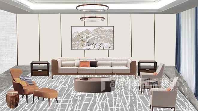 300㎡新中式风格别墅软装设计案例——新锦安