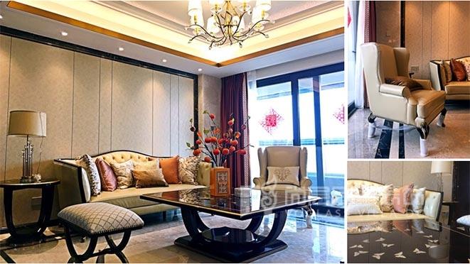 简欧风格别墅软装设计案例——华丰前海湾
