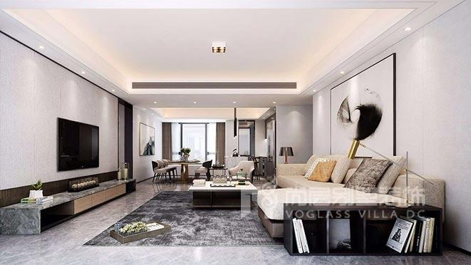 180平米现代简约风格别墅装修设计案例——香山美墅