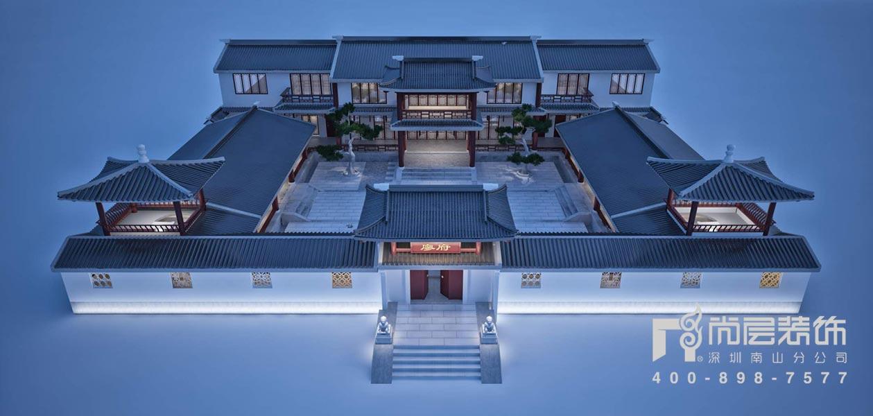2600㎡四合院别墅设计效果图案例——从化廖府