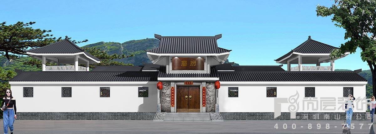 2600㎡四合院别墅设计效果图案例——从化廖府图片