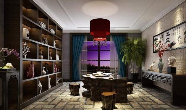 小户型中式家庭茶室装修效果图