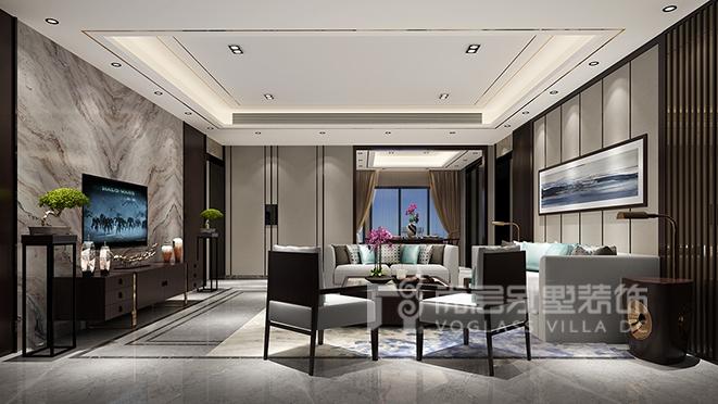 185㎡新中式风格别墅装修设计——香山美墅