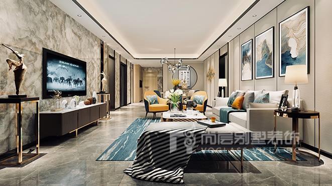 180㎡新中式风格别墅装修设计案例——星河传奇