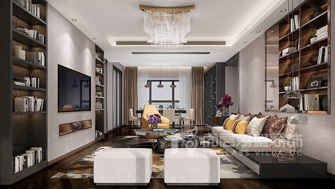 178㎡现代轻奢风格别墅装修设计案例——星河银湖谷