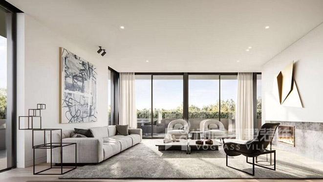 300㎡现代风格别墅装修设计案例——华府