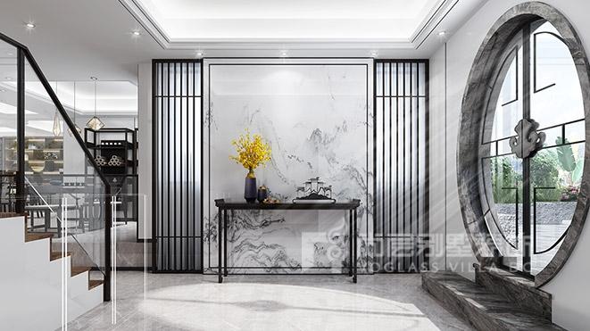 300㎡新中式风格别墅装修设计——中惠山畔