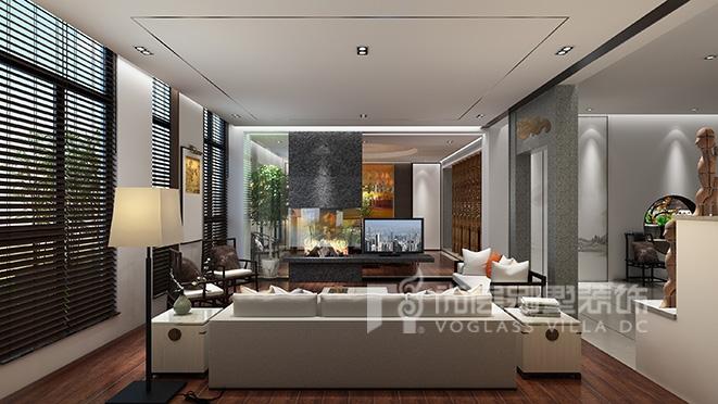 1300平方米新中式风格别墅装修——九间堂